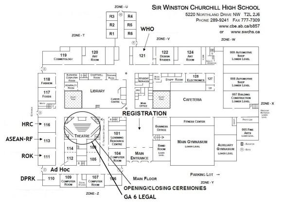 SWCHSMUN 2014 school map
